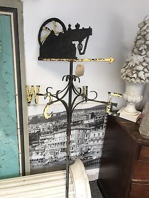 Fine Large Antique Weather Vane. Steam Engine. Open To Offers.