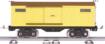 LIONEL TINPLATE by MTH TRAINS 11-30045 STANDARD GAUGE 514 YELLOW BOXCAR FREIGHT