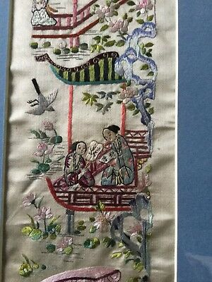 Antique Chinese Embroidery Sleeve Panel