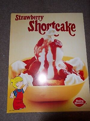 Vintage Dairy Queen Promotional Poster1981Strawberry Shortcake with Dennis the M