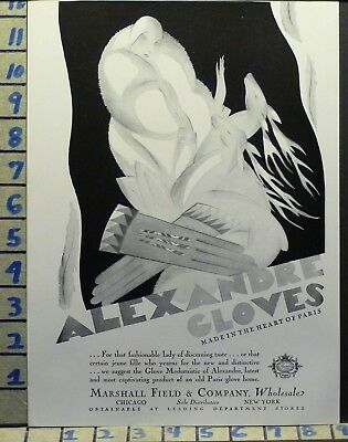 1928 Alexandre Glove Design Fashion Cape Sexy Style  Art Deco Ad  X18