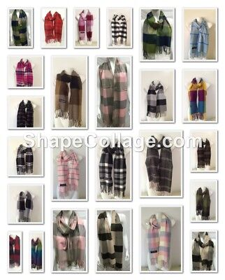 Wholesale 23Pcs $4.00 Each 100% Cashmere Scarf Made In Scotland Checked Design