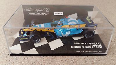 RENAULT F1 R25, F. ALONSO, WINNER FRENCH GP 2005 , MINICHAMPS 1/43 miniature