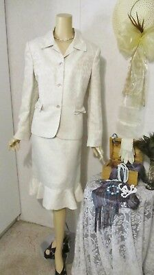 Mother Of The Bride Dress by Le Suit-Size 16-Champagne Skirt Suit