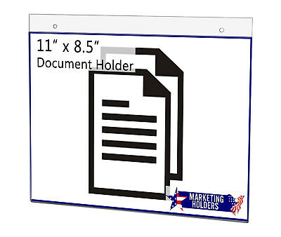 "11""W x 8.5""H Clear Acrylic Wall Mount Sign Holder"