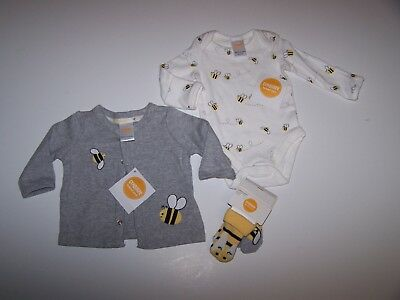 Nwt Gymboree Brand New Baby Newborn  / 0 Mos Lot Bee Collection  Set Unisex