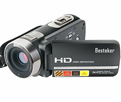 Camera Camcorders, Besteker FHD 1080P Night Vision 24MP 16X Digital Zoom Touch
