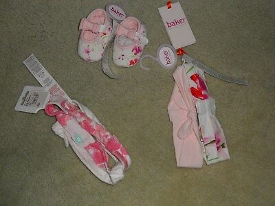New With Tags Ted Baker Baby Booties 0-3 Months  With 2 Lots  Matching Headbands