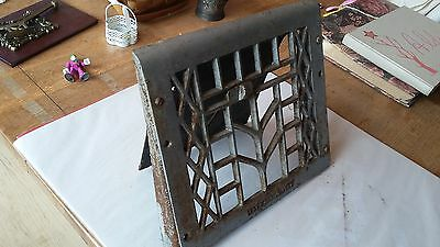 Vintage Cast Iron Floor Wall Heat Vent Grate Register Louver 1908 patent