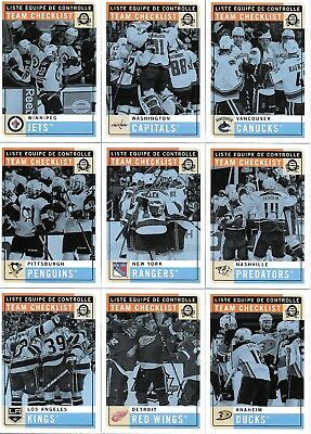 U PICK EM LOT 2017-18 17-18 O-Pee-Chee OPC Team Checklist Retro set cards Ducks