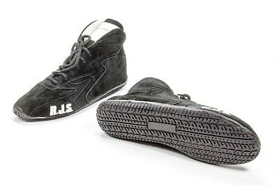 RJS SAFETY Black Size 10 Mens/11-1/2 Womens Mid-Top Driving Shoe P/N 500020156