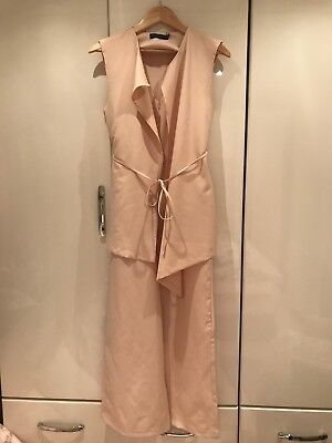 BRAND NEW Designer Lavish Alice Jumpsuit Cream UK Size 10