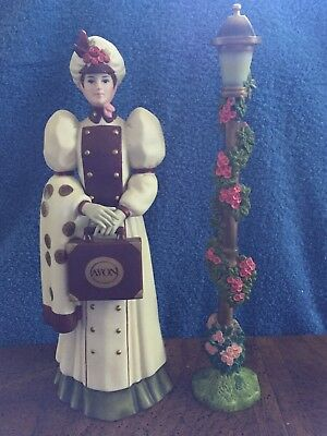 2006 First Avon Lady Porcelain Figurine~Mrs Albee Full Size glass award