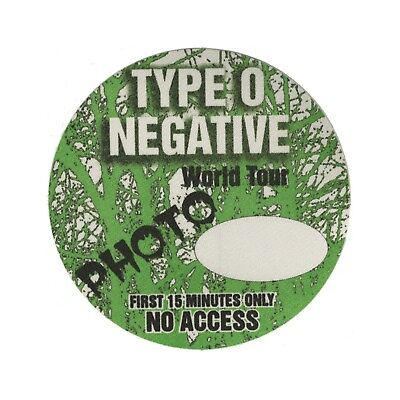 Type O Negative authentic Photo tour Backstage Pass