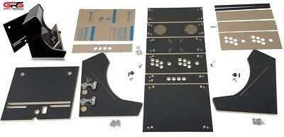 Bartop Arcade Cabinet Kit -  Black, Easy Assembly hardware, Plex, Marquee Holder