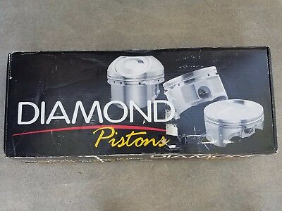 Diamond Pistons Ford Modular 4.6 5.4 cobra Dish 3.552 -19cc Coated Skirts 4v 2v