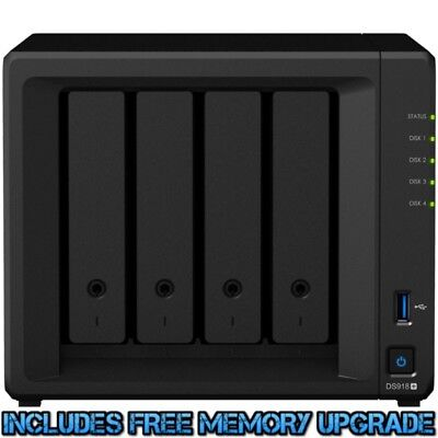 Synology DiskStation DS918+ 12tb NAS Server 4x3000gb Western Digital Blue Drives