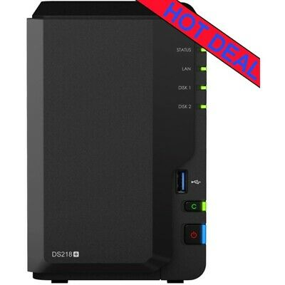 Synology DiskStation DS218+ 4tb NAS Server 2x2000gb WD Red NAS Drives