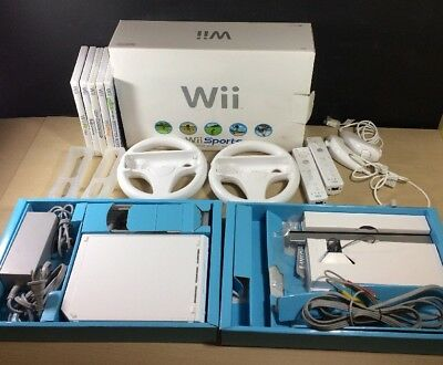 Nintendo Wii Sports White Console System Complete in Original Box 6 Games Extras