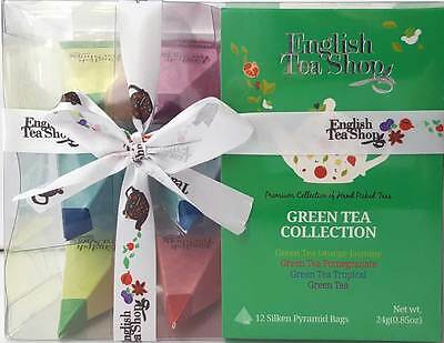 Green Tea Pyramid Collection Assorted Flavours Variety Gift Set With Ribbon