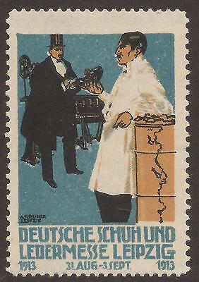 Germany / Saxony. 1913. Shoe And Leather Trade Show Label – Leipzig.