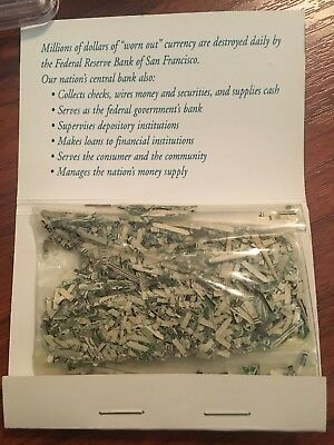Shredded U.S. Money CASH Currency Genuine From Federal Reserve Bank