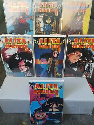 Battle Angel Alita Part 2 Comic Book Lot 1 2 3 4 5 6 7 Yukito Kishiro Viz Comics