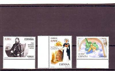 Spain - Sg4784-4786 Mnh 2013 Personalities