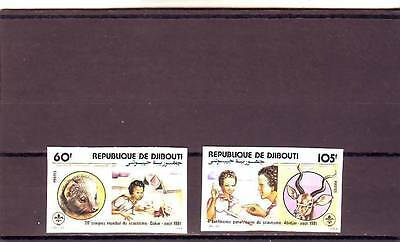 a120 - DJIBOUTI - SG820-821 MNH 1981 28th WORLD SCOUTING CONGRESS - IMPERF