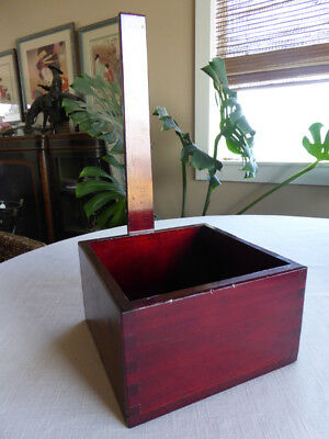 Japanese Lacquered Wood Measuring Box