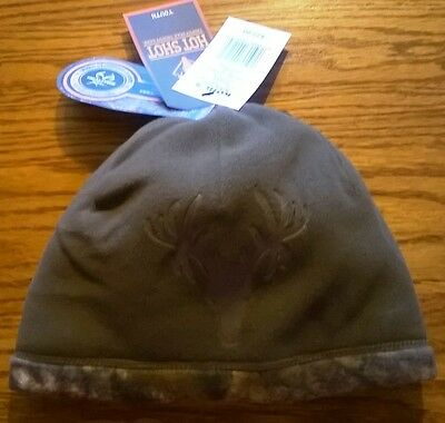 HOT SHOT Realtree Boys Reversible Camo/Brown BEANIE Hat Style #14-032BC NWT