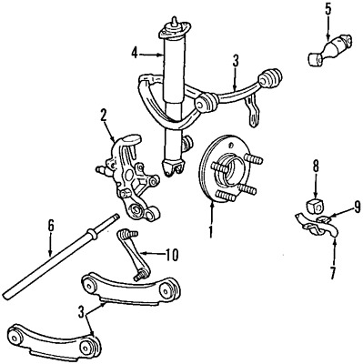 lincoln ford oem 95 02 continental stabilizer sway bar rear bushings 6.0 Ford F-350 Super Duty Steering Parts Diagram genuine ford stabilizer bar bushing f5oy 5493 b