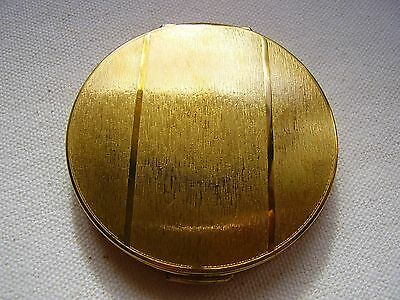 Vintage Stratton Ladies Powder Compact with Brushed Brass finish
