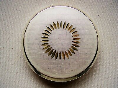Vintage Ladies Stratton Powder Compact  - SIlver and Gold design