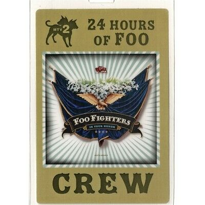 Foo Fighters authentic 2005 concert Laminated Backstage Pass In Your Honor Tour