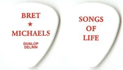 Bret Michaels authentic 2003 Songs of Life tour issued white Guitar Pick POISON