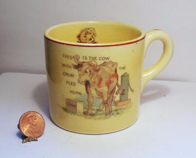 """Vintage  Child's Mug ~ """"House That Jack Built"""" ~ Roma ~ 1920's ~ As Is"""