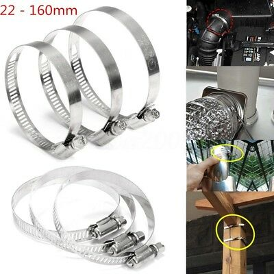 22-160mm Stainless Steel Fuel Hose Clips Pipe Clamp Fastening Multi Jubilee Type