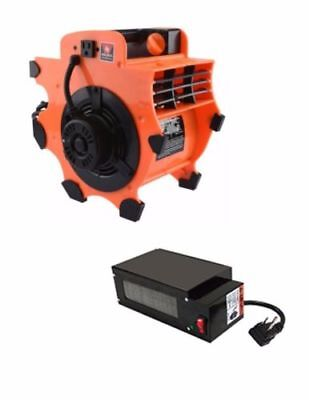 Industrial Air Mover | Fan Blower Dryer Portable Lightweight WITH Heater Attach