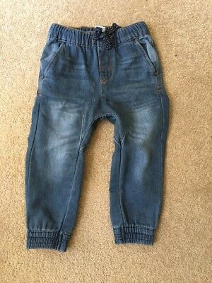 Boys Soft Terry Jeans Pants Size 3 As New