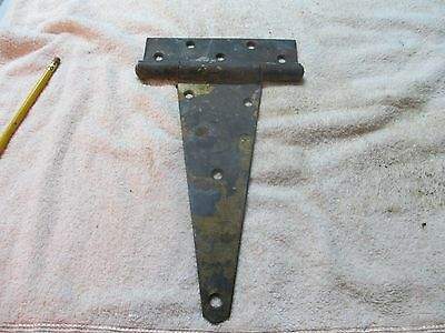 "Large Vtg.  Antique T Strap Barn Door Gate Hinge 7 "" x 12 "" heavy duty"