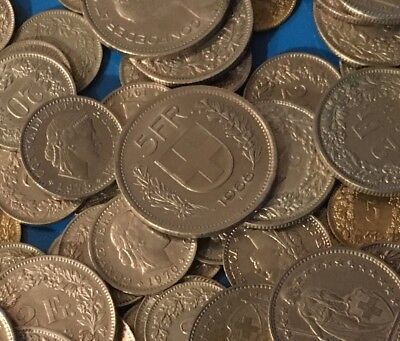 140 Swiss Francs - Coins of Switzerland  140 SFR - Cheaper than the Bank!
