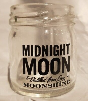 RARE Midnight Moon Moonshine Shot Glass Promotional Piece Adult Owned Used