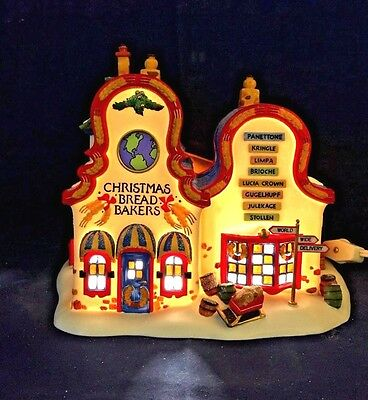 Dept 56 North Pole Series Christmas Bread Bakers # 56393 Retired Snow Heritage