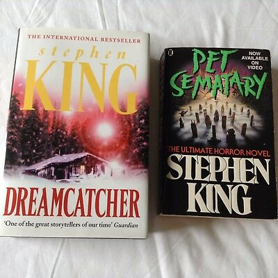 2 STEPHEN KING BOOKS - PET SEMATARY & DREAMCATCHER Bulk Lot!