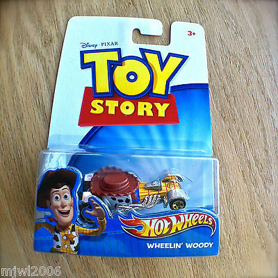 Disney PIXAR Toy Story WHEELIN' WOODY Hot Wheels diecast Mattel Sheriff INTL