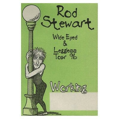 Rod Stewart authentic Working 1996 tour Backstage Pass