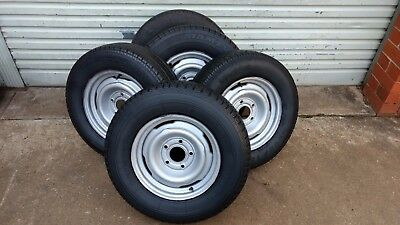 Genuine Early Holden Hq Wheel & 14 Inch Tyre Trailer Rim Spare