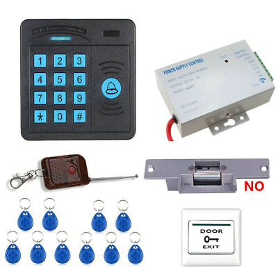 NO Electric Strike Kit Electric Door Lock ID Card Password Access Control System