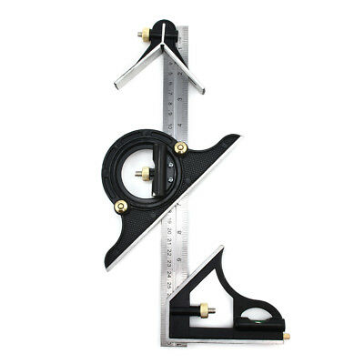 300mm Ruler Multi Combination Square Angle Finder Protractor Spirit Level Set